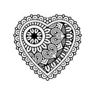 cuore mandala