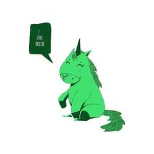 unicorno smeraldo
